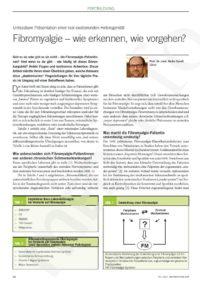 Arztpraxis Prof. Sprott, Zürich, Praxis für Rheuma & Schmerz, Fibromyalgie
