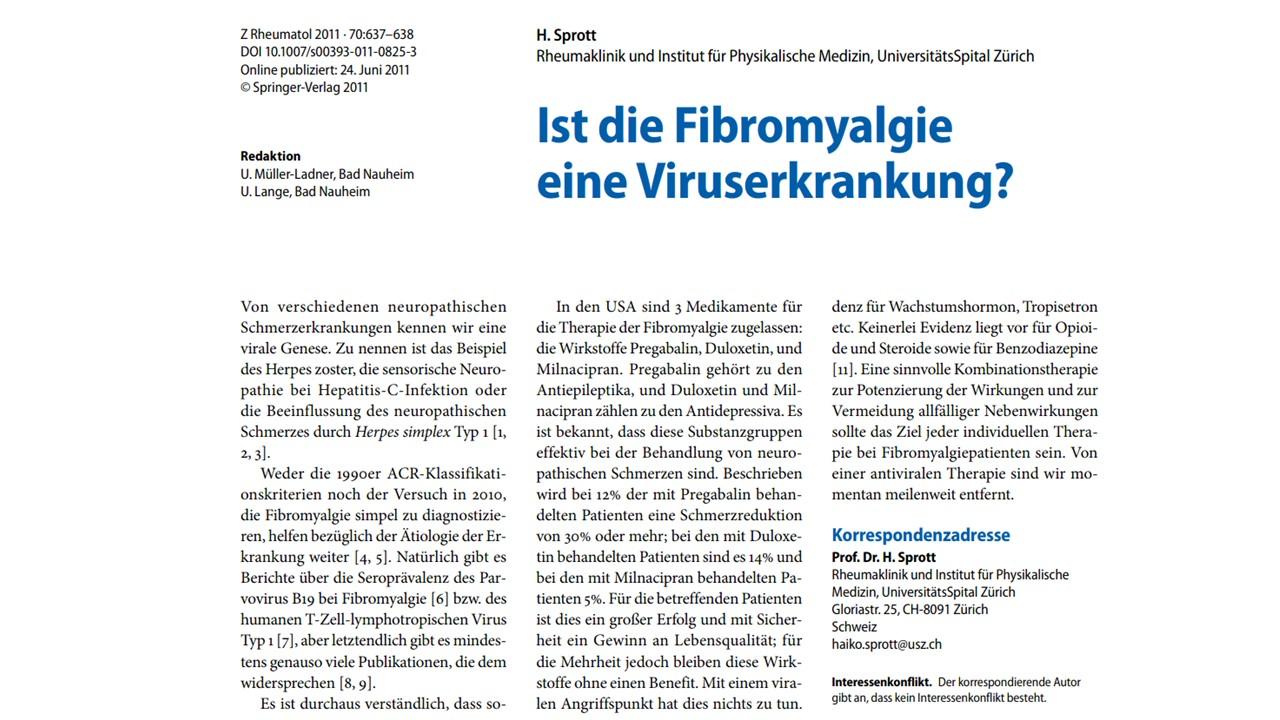 Ist die Fibromyalgie eine Viruserkrankung?