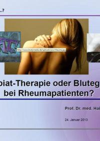 Arztpraxis Prof. Sprott, Zürich, Praxis für Rheuma & Schmerz, Rheumatherapie