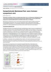 Arztpraxis Prof. Sprott, Zürich, Praxis für Rheuma & Schmerz, Sympathischer Schmerz