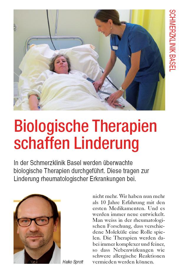 Arztpraxis Prof. Sprott, Zürich, Praxis für Rheuma & Schmerz, Biologika